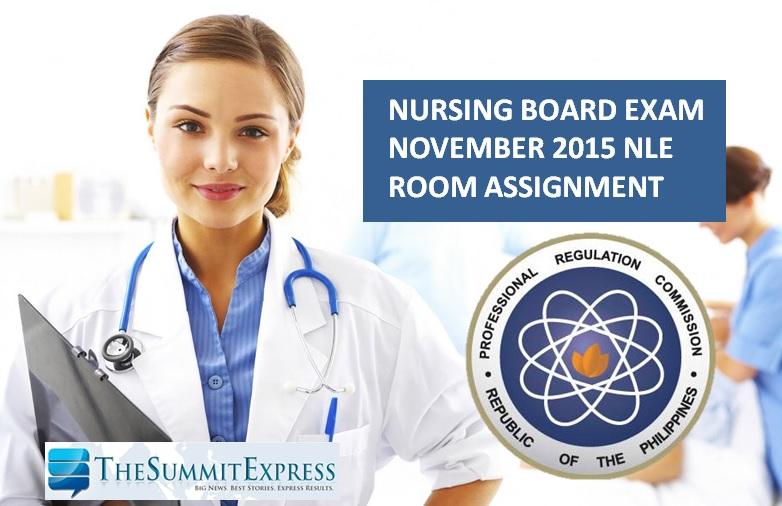 NLE Room Assignment November 2015 Nursing Board Exam
