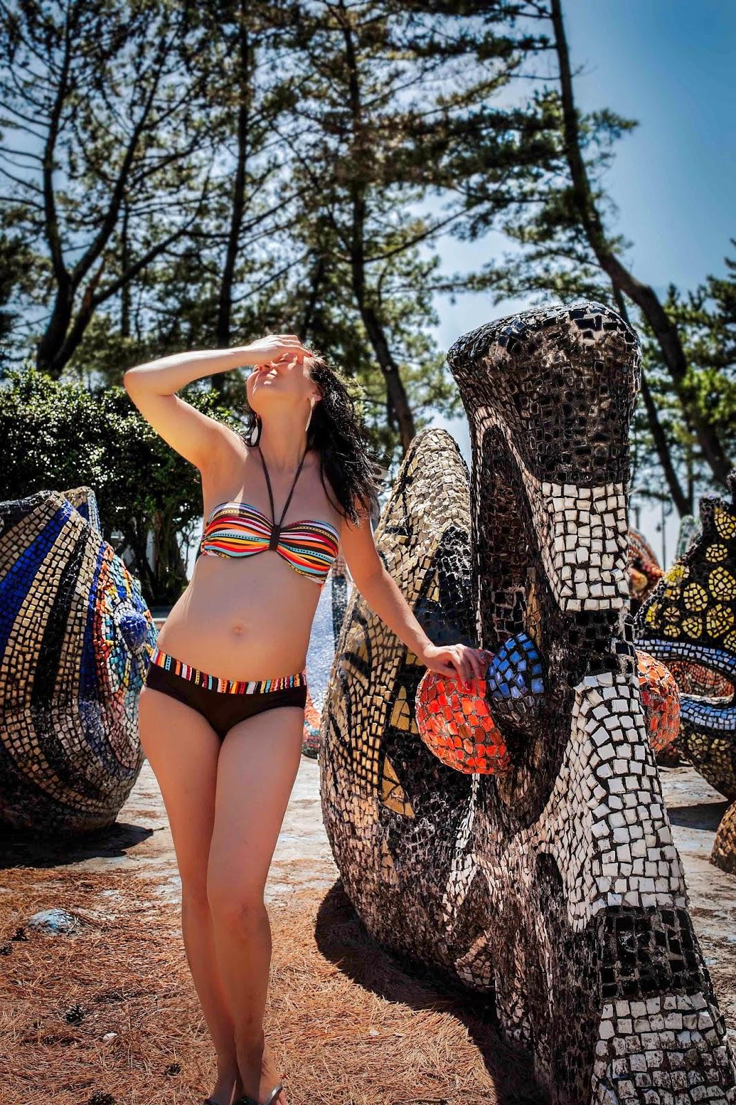 Fotografia, Gruzja, Batumi, Morze Czarne, sesja ciążowa, dwuczęściowy strój kąpielowy