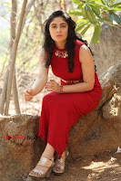 Telugu Actress Zahida Sam Latest Pos in Red Gown at RF Films New Movie Opening  0337.JPG