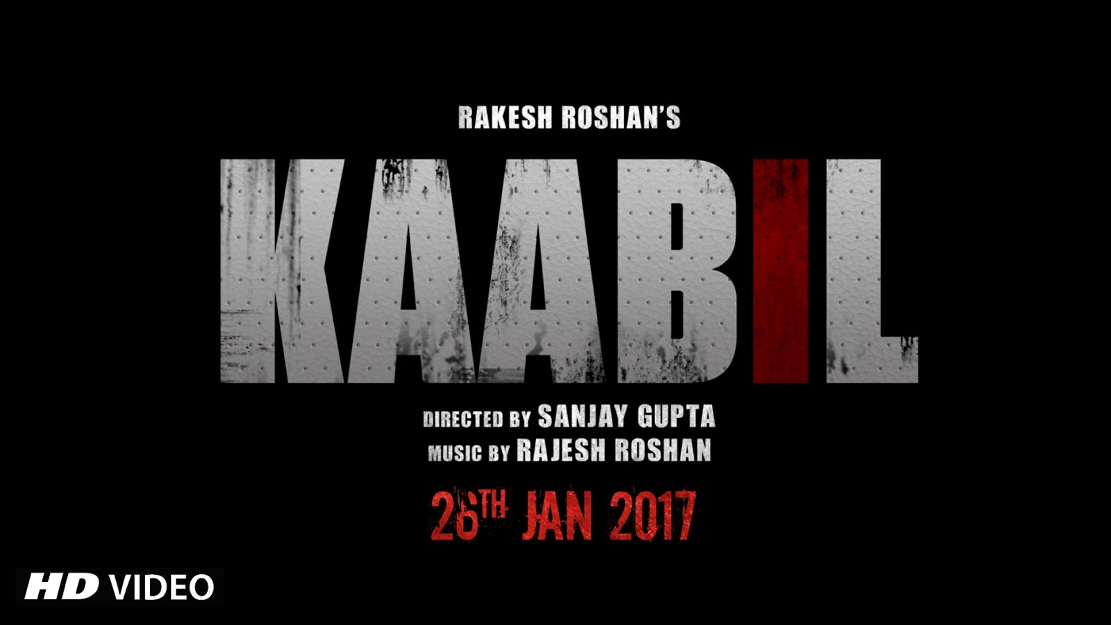Complete cast and crew of Kaabil   (2016) bollywood hindi movie wiki, poster, Trailer, music list - Hrithik Roshan and Yami Gautam, Movie release date 25 January, 2016