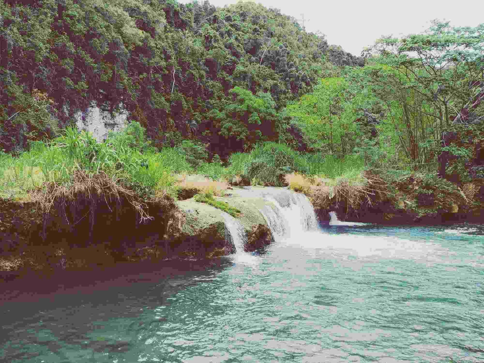 a small waterfalls at Loboc River