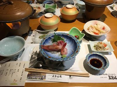 五箇山荘の夕食
