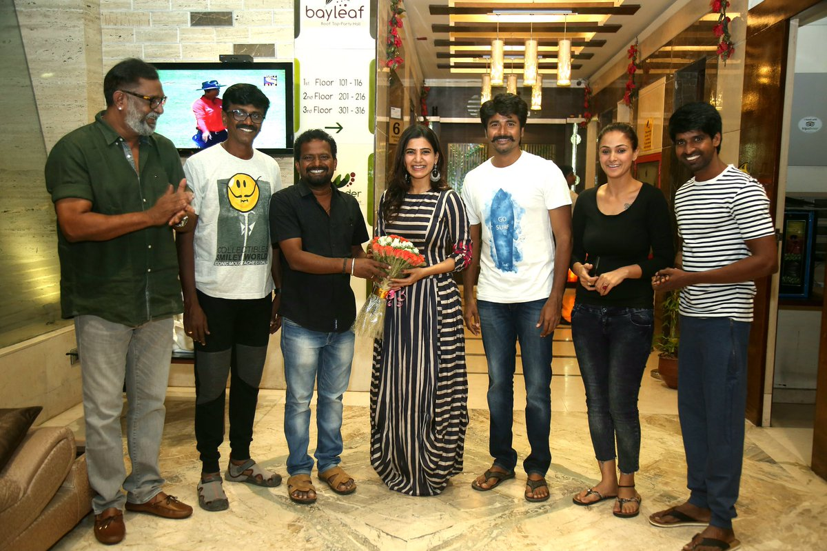 Actress Samantha Stills In Black Dress At Sivakarthikeyan Movie Shooting Spot