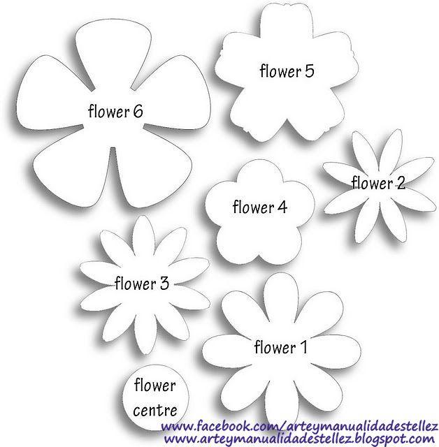 Plantillas Flores De Papel Para Imprimir Bricolaje Papel