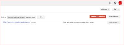Tampilan Setelah Login Menggunakan Akun Gmail