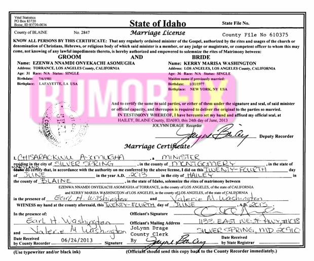 kerry washington marriage certificate