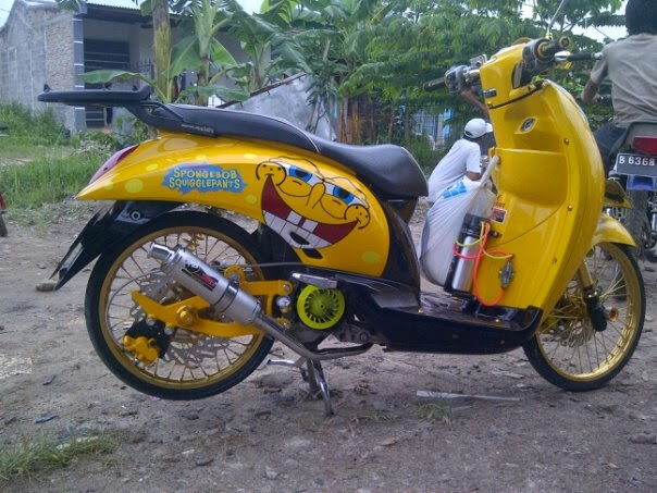 Modifikasi Motor Scoopy FI