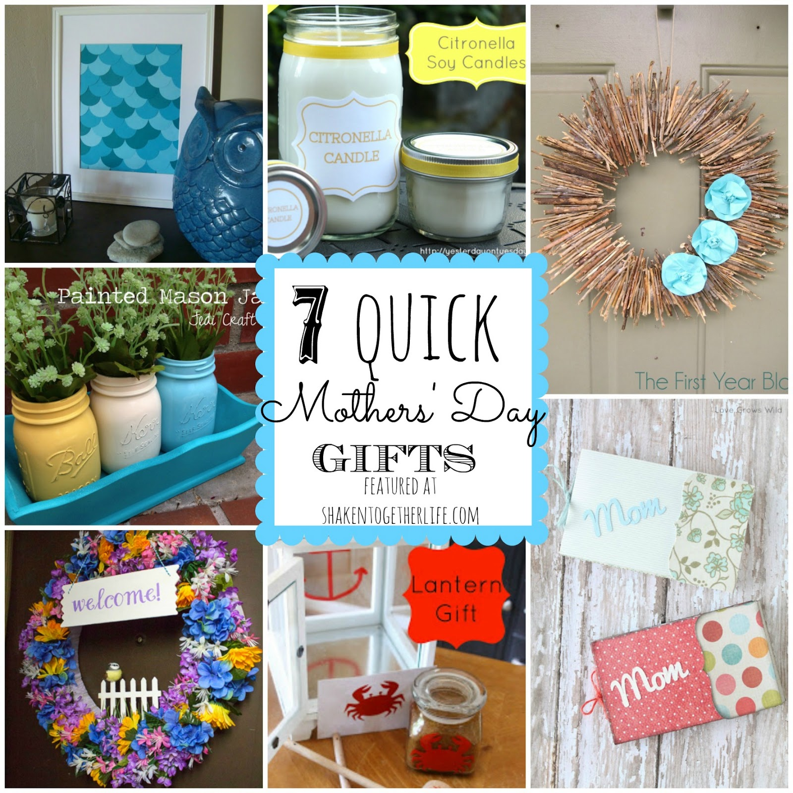 7 Quick Gifts For Mothers Day