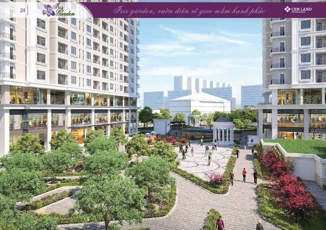 Phối cảnh khuôn viên dự án Iris Garden