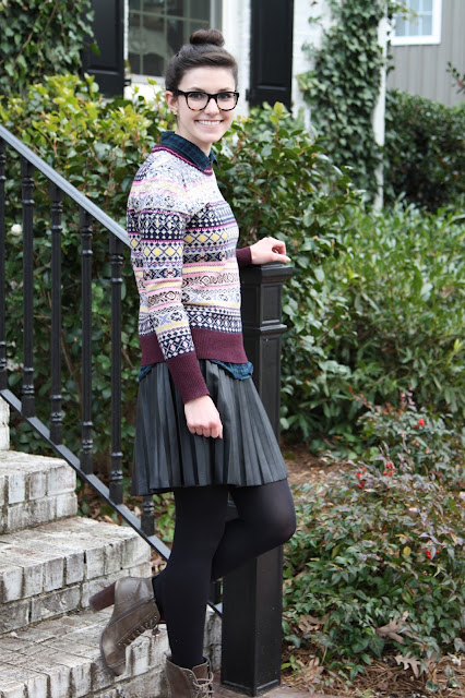 patterns, 2017, winter, sparkly, top knot, J.Crew, OOTD,