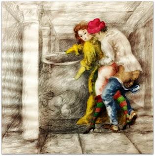 Antonio Berni - Lápis, aquarela e colagem, 1975