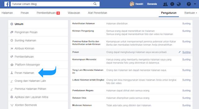 Cara Menambah Admin pada Fan Page Facebook