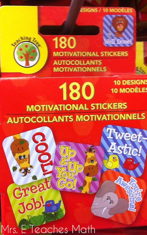 Mrs. E Teaches Math:  Dollar Store Finds for the Classroom - Stickers