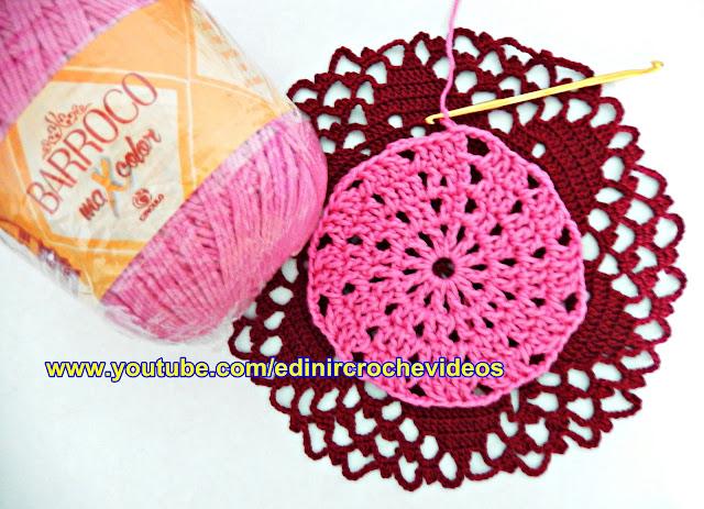 tapete de croche catavento youtube edinir-croche toalha aprender croche curso de croche facebook