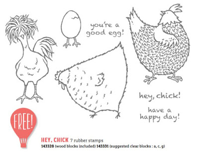 Hey Chick - FREE with a $90 order - Sale-A-Bration - Simply Stamping with Narelle - buy here - https://www3.stampinup.com/ecweb/default.aspx?dbwsdemoid=4008228
