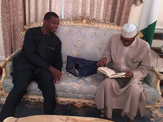 Pastor Adeboye's Visit To Buhari In UK