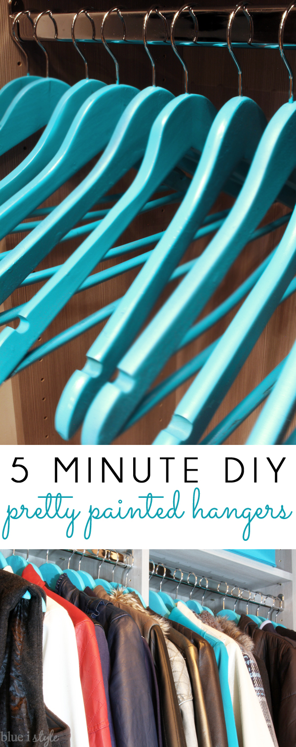 Pretty Painted Hangers