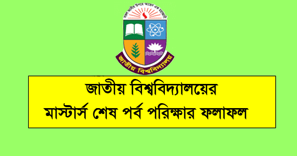 NU Masters Final Year Result 2019