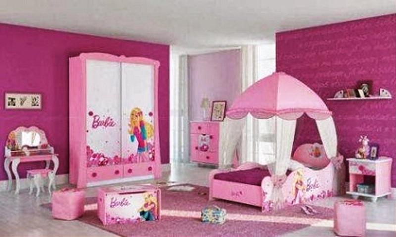 Contoh Desain Kamar Tidur Anak Perempuan Cantik Tema Barbie