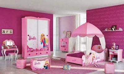 Contoh Desain Kamar Tidur Anak Perempuan Barbie