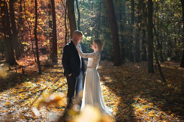 Las - najlepsze miejsce na jesienną sesję poślubną!