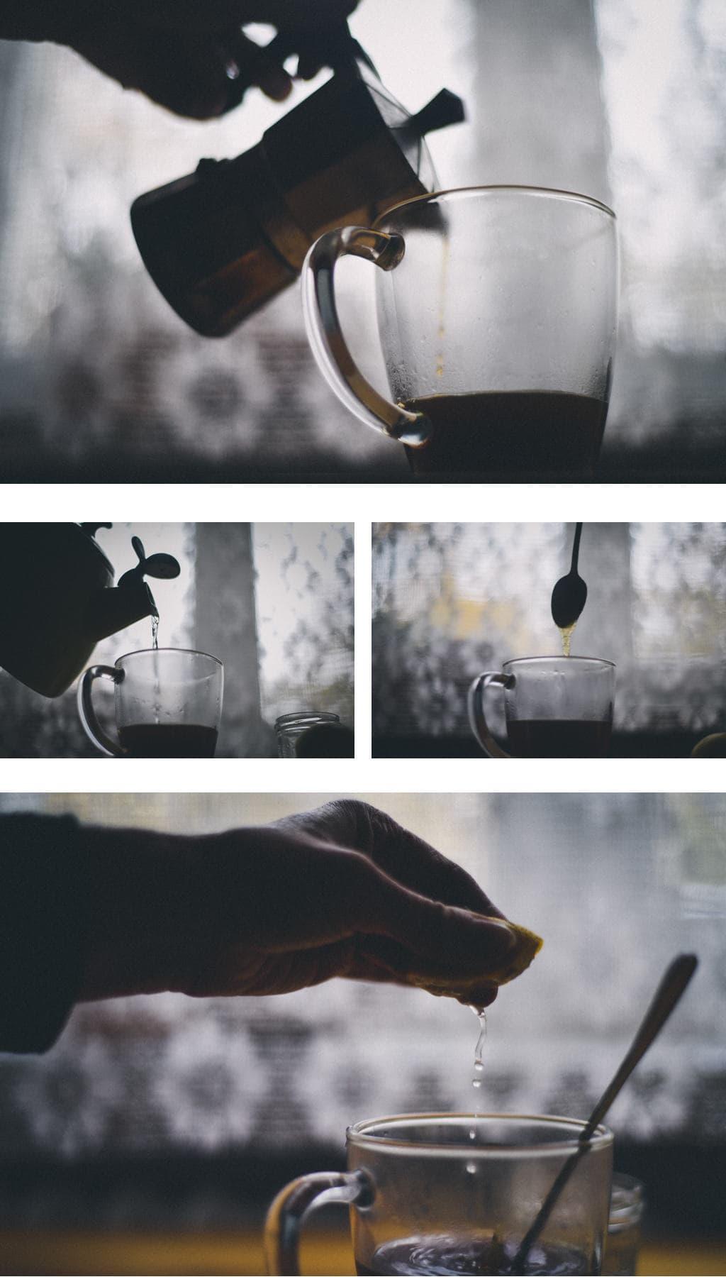 jak zrobić kawę z cytryną?