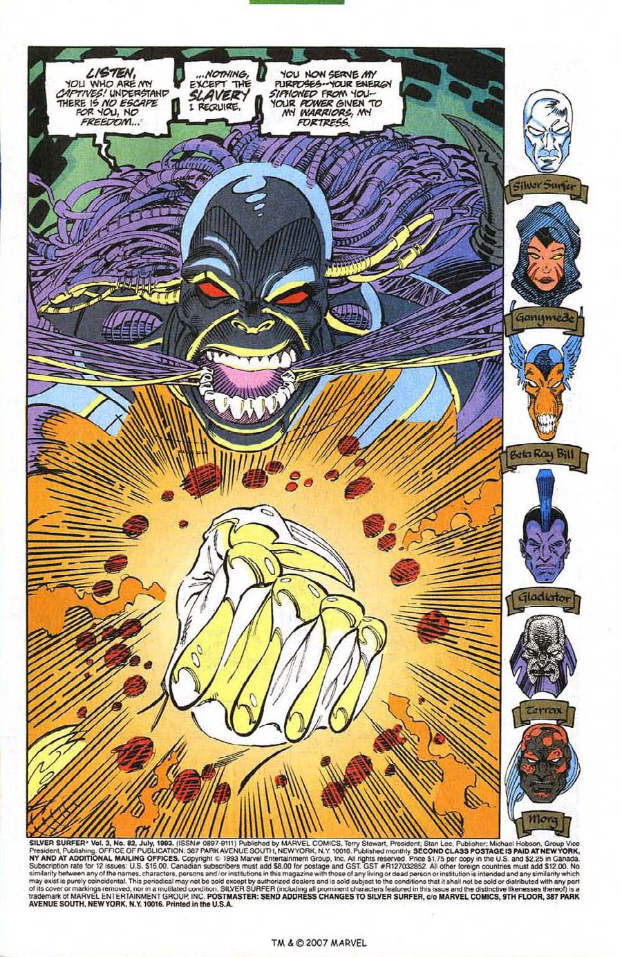 Read online Silver Surfer (1987) comic -  Issue #82 - 3