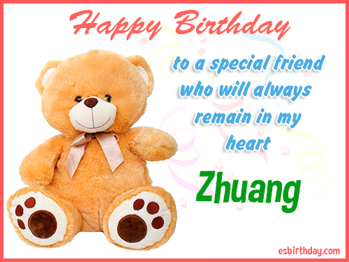 Zhuang Happy Birthday friend