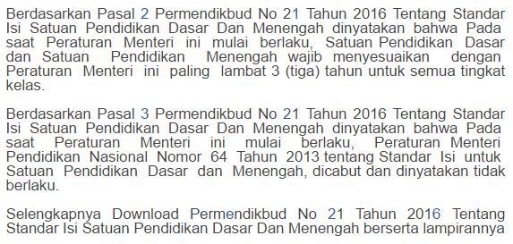Download Permendikbud No 21, 22, 23 Tahun 2016 pict