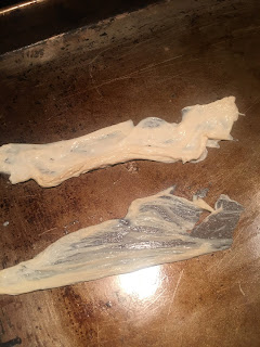 Photo of two yuba skins on a baking sheet. https://trimazing.com/