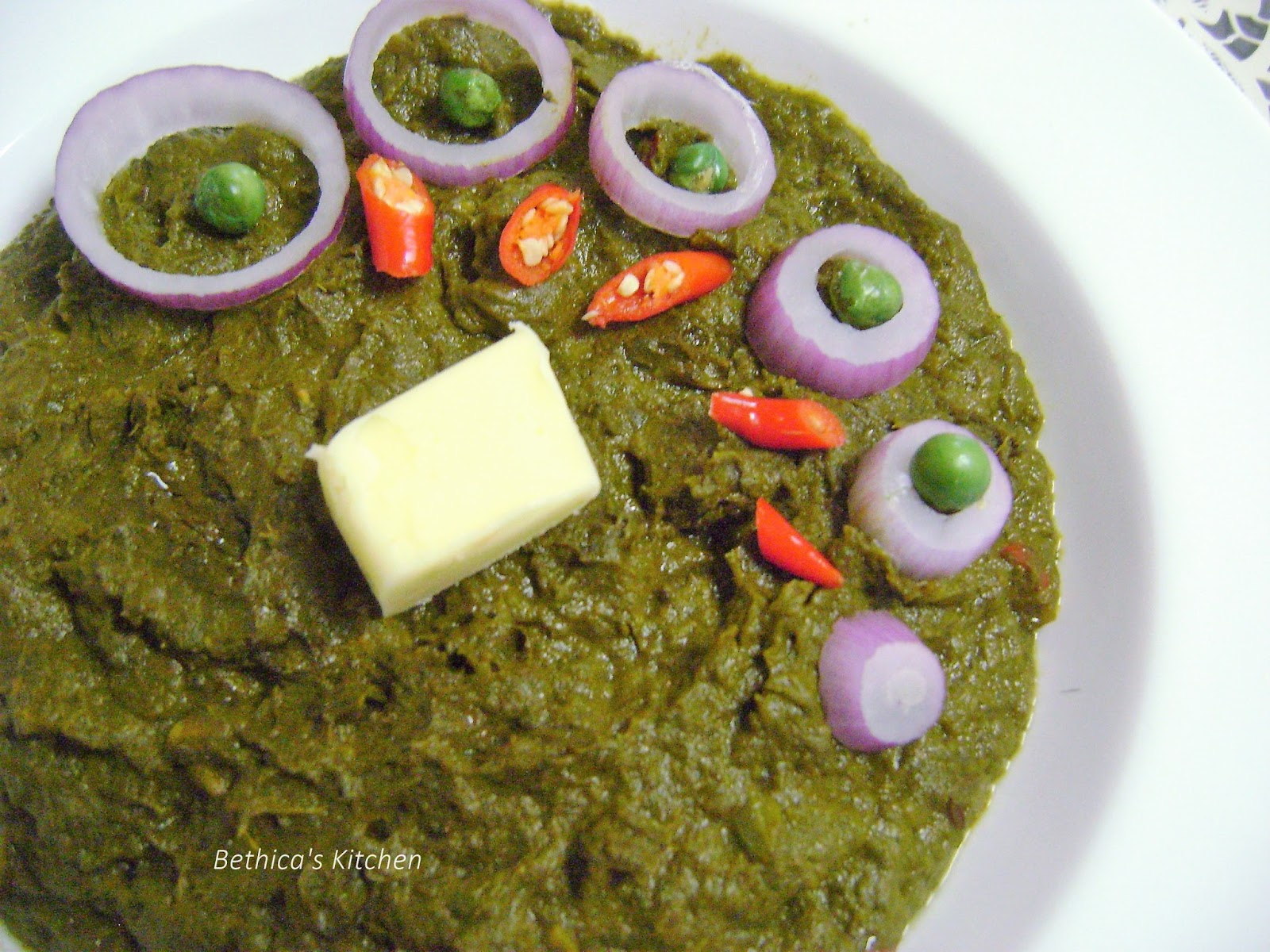 Bethicas kitchen flavours delicious sarson ka saag mustard greens boil the mustard leaves coriander mint leaves in 1 cup water or pressure cook for 2 3 whistles set aside to cool blend well to a smooth paste forumfinder Gallery