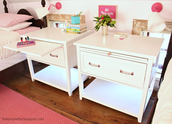 That's My Letter: DIY Nightstand with Pull-Out Ledge (free ...