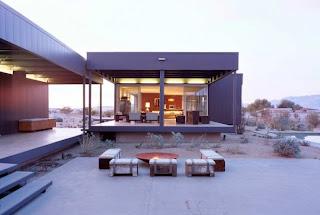 Minimalist prefab modular house, California