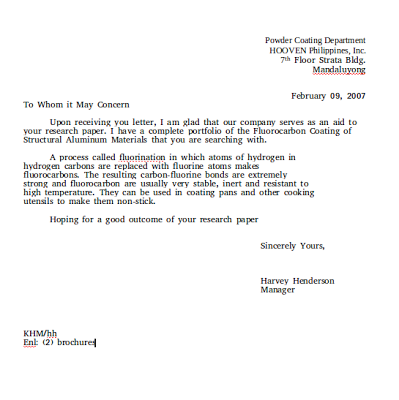 Business Letter