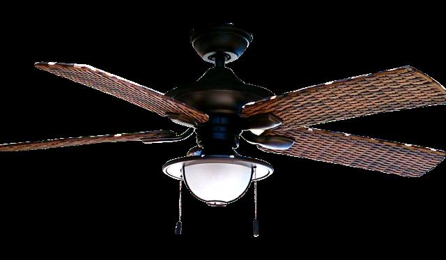 Ventilador de teto instalado com controle remoto