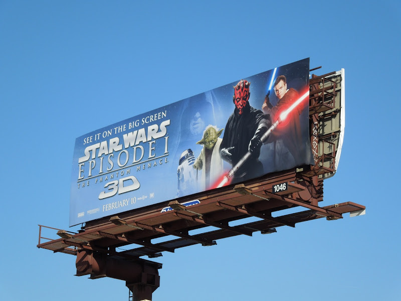 Star Wars Phantom Menace 3D billboard