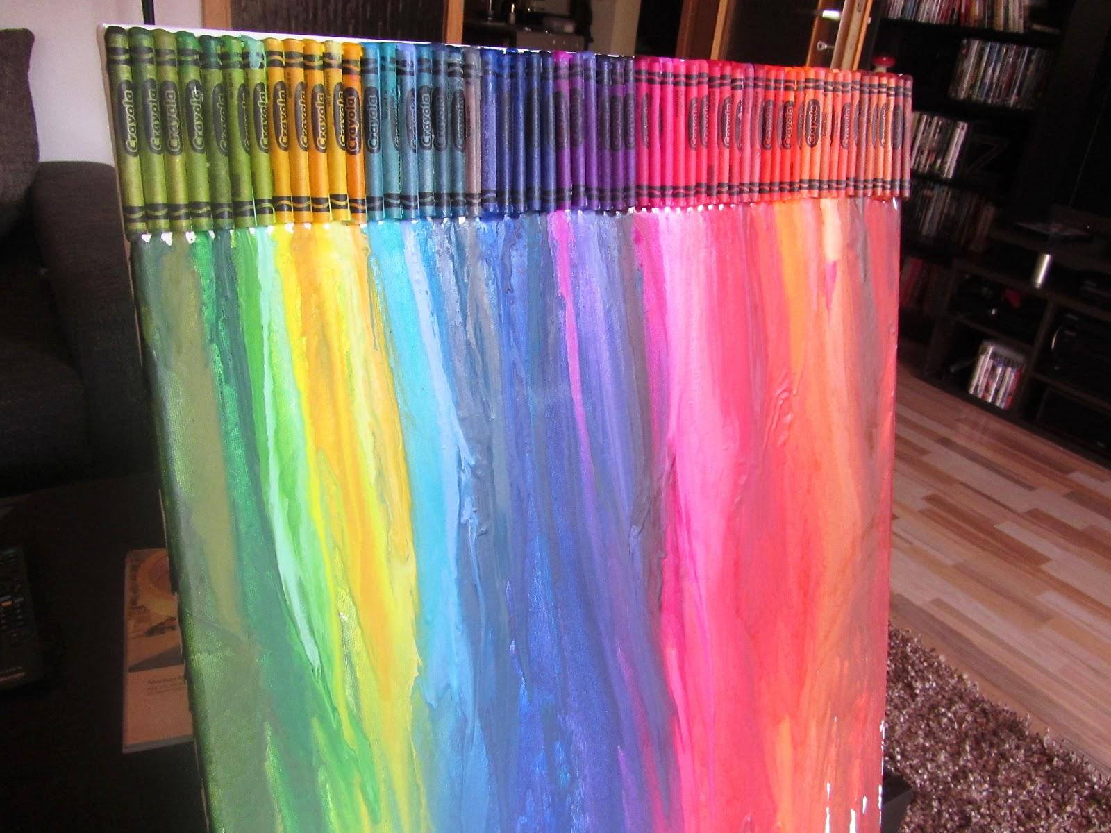 Kreativ Oder Primitiv Crayon Art Pärchen Im Regen