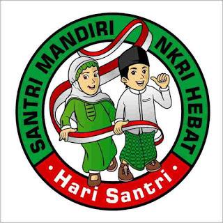 Logo Hari Santri Nasional Versi Bulat