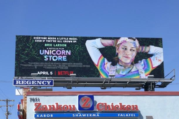 Unicorn Store movie billboard