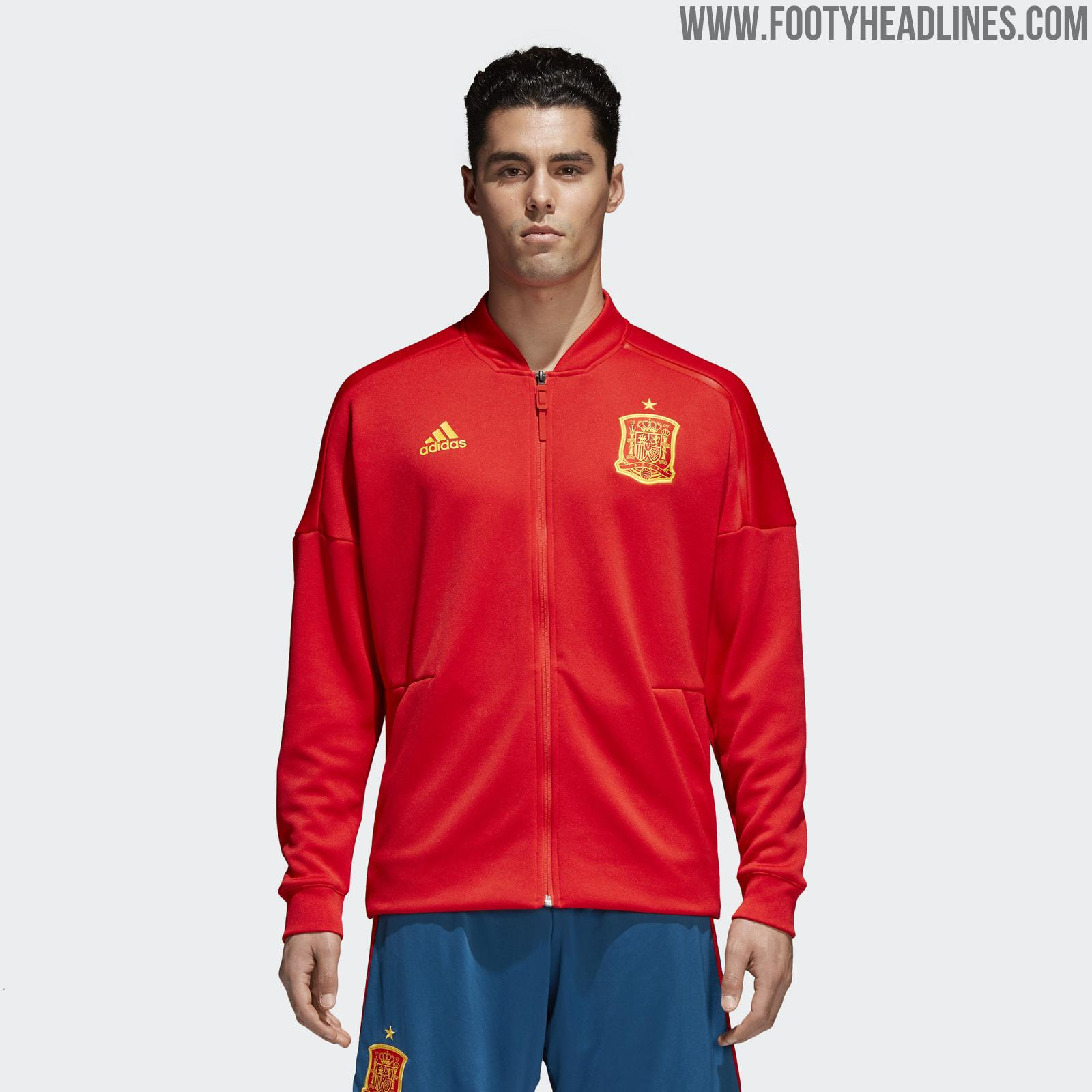 Adidas Spain 2018 World Cup Anthem Jacket eae7f6519