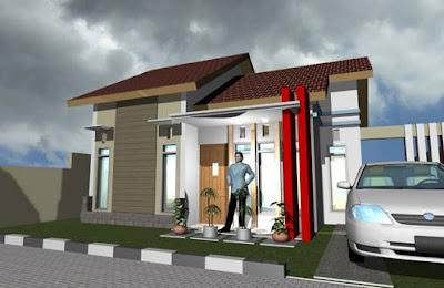 Contoh Model Desain Rumah Minimalis 1 Lantai Type 45