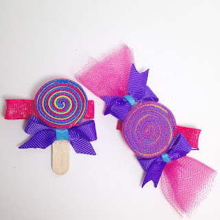 Swirl candy hair clip