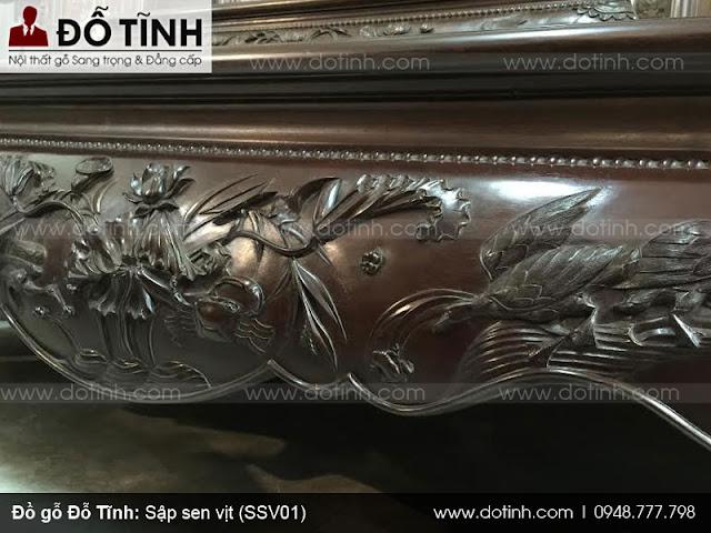 Sập sen vịt đục cổ liền (SSV01) - Giá 26tr800