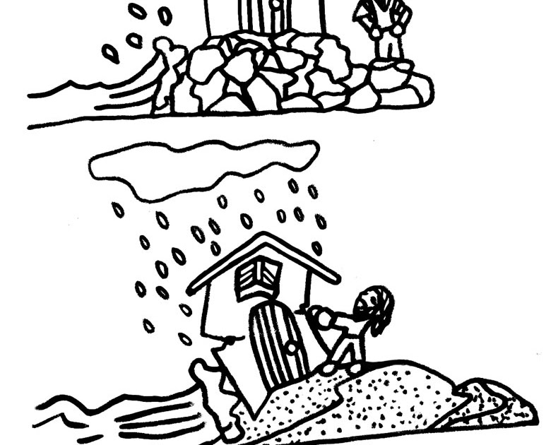 LDSFiles Clipart: Wise Man, Foolish Man Coloring Page