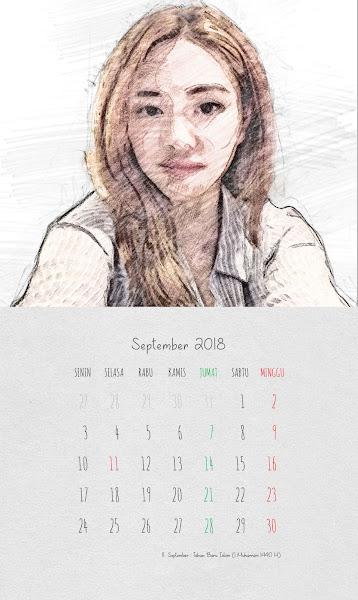 Desain Kalender Indonesia 2018 - September