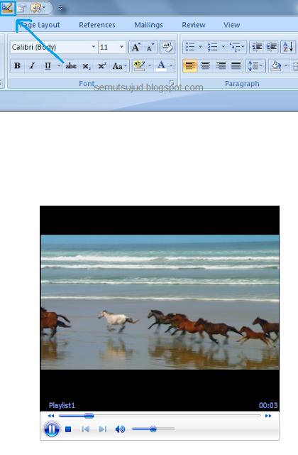cara menambahkan video di ms word-8