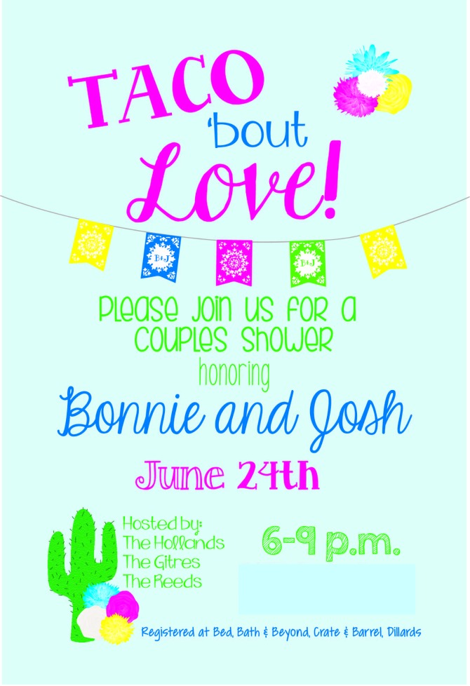 Taco 'bout Love Shower Invitation