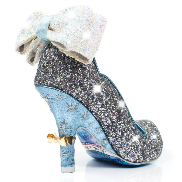 irregular choice cinderella sparkling slipper heel detail