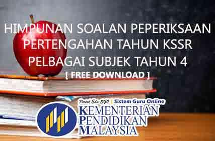 Soalan Bahasa Melayu Peperiksaan Tengah Tahun bagi Tahun 4 KSSR