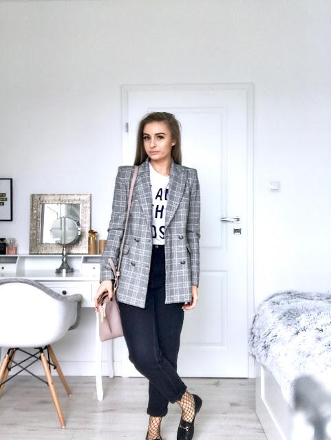 Trend modna marynarka w kratę żakiet w kratkę Krate trendy blog modowy moda hit na wiosnę wiosna 2017 trendy krata